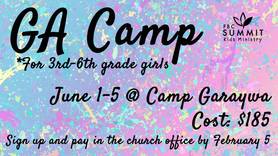 GA Camp - Camp Garawya