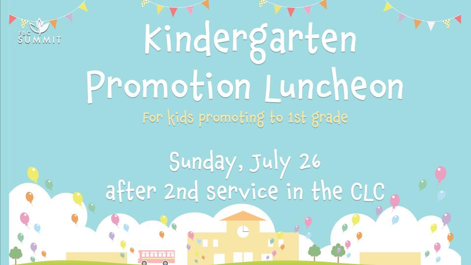 Kindergarten Promotion Luncheon