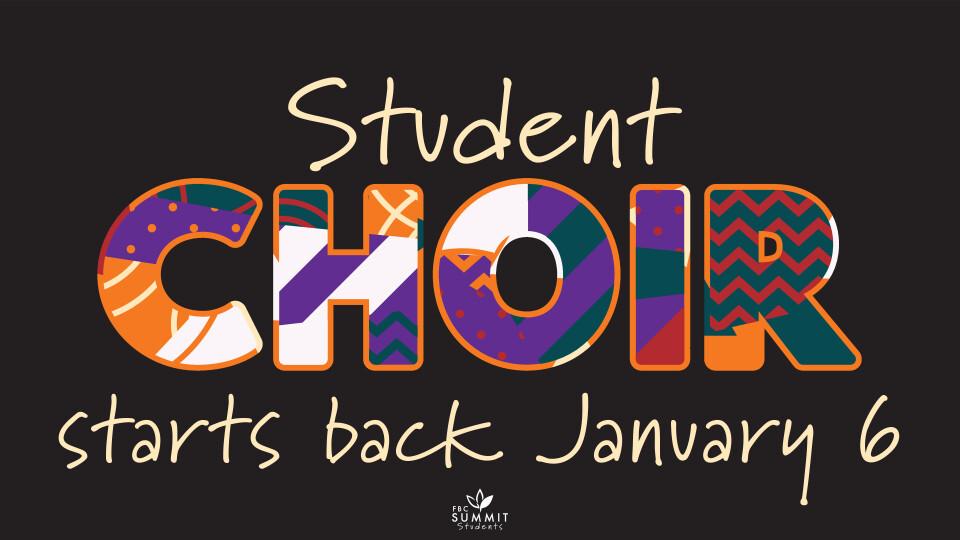 Student Choir Spring 2021