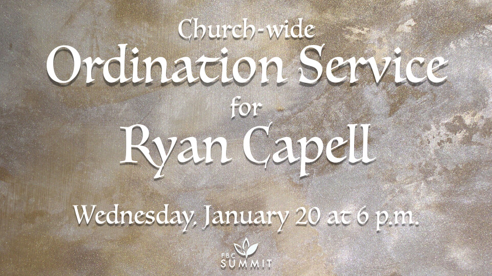 Ordination Service for Ryan Capell